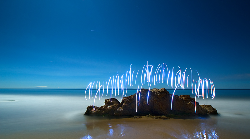Light Painting Photography Burnblue Night Photography